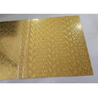 Gold Mirror Embossed Aluminum Sheet , Embossed Aluminum Panels Construction Usage
