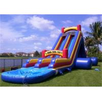 China Interesting Inflatable Water Slide , Banzai Inflatable Outdoor Water Slide on sale