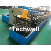Quality Galvanized Steel / PPGI Guide Rail Roll Form Machines With Hydraulic Punching Device wholesale