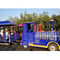 Quality Outdoor Diesel Trackless Train Amusement Ride Vacuum Tyre For Large Scenic Area wholesale