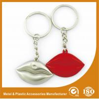 Quality Silver Plated Custom Shaped Keychain Personalised Lips Keychain wholesale