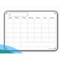 Quality Portable Weekly Wall Planner Whiteboard Aliuminium Frame Double Sizes wholesale