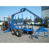 Quality forestry machine timber ATV log trailer for tractor with crane with grapple wholesale