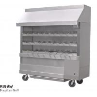 Quality Silvery White Stainless Steel Brazilian Charcoal Oven Burner Commercial Kitchen Equipments wholesale