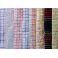 Quality 100% Cotton Yarn Dyed Latccice Plaid Seersucker Fabric For Garment wholesale