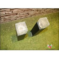 Quality Iron Ice Bollard Square Solar Outside Lights / Solar Powered Decking Lights wholesale