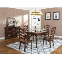 Quality Rubber Wood Home dining room furniture Long and round dining table with 4/6 people Chair can by Upholstered cushion seat wholesale
