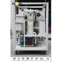 Quality Demulsification Dehydration Lubricating Oil Purifier , Lube Oil Filtration Machine wholesale
