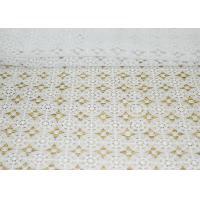 Quality DTM French Guipure Corded Lace Fabric , 100 Polyester Chemical Lace wholesale