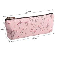 Quality Soft Nylon Zipper Pencil Pouch For Girls Pencil 21*18.5*8 Cm wholesale