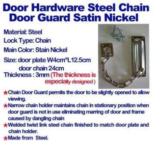 China Door Hardware Steel Chain Door Guard Satin Nickel on sale