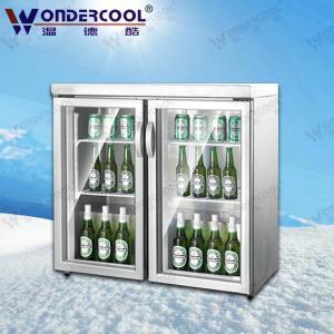 China 200L Ice cream cake display freezer beer bar display fridge counter mini cooling display on sale