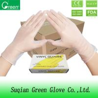 Quality Food Grade Clear Disposable P Free Vinyl Gloves FDA / ISO Approval PVC wholesale