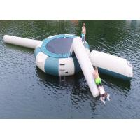 Quality Square Trampoline Combo With Slide Inflatable Water Sports Games With High Quality wholesale