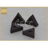 Quality Black Tungsten Carbide Inserts Cutting Tools High Temperature Resistance wholesale