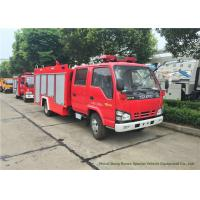 Quality ISUZU NKR 600P Water Tank Fire Fighting Truck With Fire Pump 3000Liters wholesale