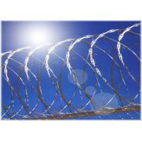China Hot Dip Galvanized Barbed Wire Single Coiled Razor Wire Mesh Fence 900mm Diameter on sale