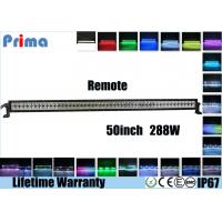 Quality 50 Inch 288W Color Changing Remote Control LED Light Bar For Offroad 4 X 4 Jeep wholesale