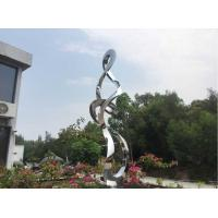 Quality Contemporary Polished Stainless Steel Sculpture Abstract Small Garden Statues wholesale