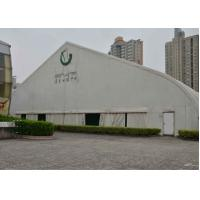 China Durable White Aluminum Frame Tent Double Pvc Coated Polyester Long Life Time on sale