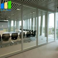 China Aluminum Glass Folding Partition Walls Removing Sliding Glass Door on sale