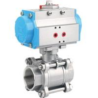Quality Stainaless-Steel Pneumatic-3-PC-Ball-Valve wholesale