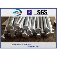Buy cheap Oxide Black / Plain 8.8 Grade HEX Railway Bolt 24x3x1100mm With GB Standard from wholesalers