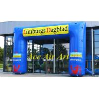 Quality 20ft blue durable advertising air arch in sport event ,inflatable square arch for sale wholesale