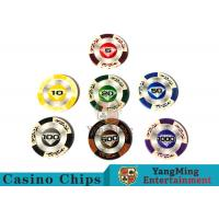 Quality 14 Gram Matte Sticker Custom Clay Poker Chips With 25pcs In A Shrink Roll wholesale