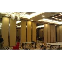China Soundproof Folding Hotel Movable Partition Walls with Aluminium Track Wheels on sale