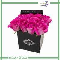Quality Romantic Square Rose Flower Gift Boxes Cardboard Packaging Box wholesale