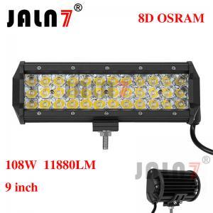 Quality 108W 11880LM OSRAM 9 INCH 8D LED LIGHT BAR JALN7 wholesale
