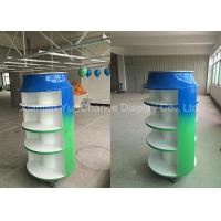 Quality Green Color Standing Display Rack Sprite Can Shape Drink Display Rack Lareg Capacity wholesale