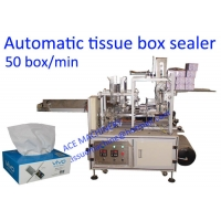 China 50 Box / Min Facial Tissue Paper Box Packing Machine on sale