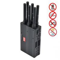 Quality 6 Antenna High Power Portable Cell Phone Signal Jammer Blocking GSM 3G 4G LTE WIMAX GPS wholesale