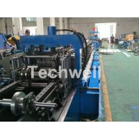 Quality Blue Cable Tray Roll Forming Machine  With Punch Machine & Hydraulic Pre - Cutting Device wholesale
