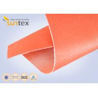 Quality 32oz Red Silicone Rubber Coated Fiberglass ClothFor Welding Blanket Fireproofing Textiles wholesale