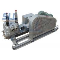 China Low Noise Mortar Grout Pump , Electric Grout Pump With Skid Chassis SG130-20 on sale