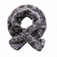 China Rex Fur Scarf with Snow Top and Fashionable Style, Ideal for Ladies on sale