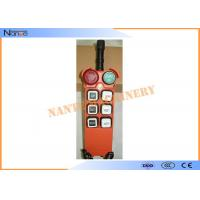 China Radio Hoist Push Button Switch Crane Remote Control 6 Buttons Within 100m on sale