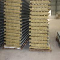 Quality 20 years fireproof rock wool aluminum sandwich panel use as container house wholesale