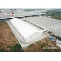 China 40m Width Aluminum Frame Waterproof PVC Cover Warehouse Tent With Ventilation Windows on sale