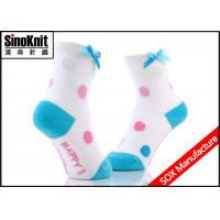 China Bowknot Colorful Kids Spring Autumn Cotton Children Baby Socks for Slipper Girls on sale