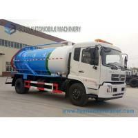 Cheap Low Speed Vacuum Tank Truck Dongfeng 8000L Cummins190hp 4x2 Sewage Suction Truck for sale
