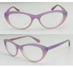 Quality Hand Made Women Oval Fashion Eyeglasses Frames , Pink Glass Frame wholesale