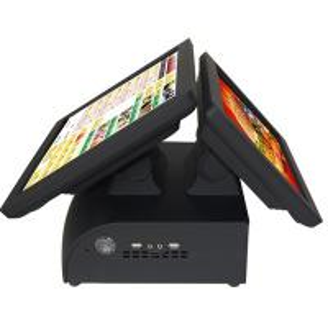 Quality Two Monitors Karaoke Black 15 Pos Touch Terminal , Cash Register Kiosk Customized For Bar wholesale