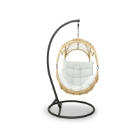 Quality UV Resistant PE Rattan 840mm Depth Rattan Hanging Egg Chair Outdoor wholesale
