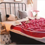 Quality Polar Fleece Printed Velvet Sherpa Blanket Ultra Soft High Warmth Retention wholesale
