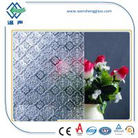 Quality Window / Shower doors toughened Frosted Patterned Glass for indoor / oudoor wholesale