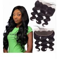 China Natural Color 100% Virgin Brazilian Wavy Hair / 8 Inch - 40 Inch Weave Bundles on sale
